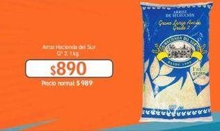 Oferta de Arroz Hacienda del sur por $890