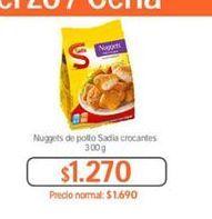 Oferta de Nuggets de pollo Sadia por $1270