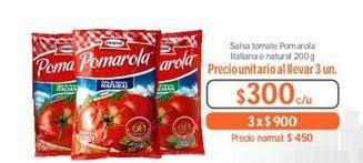 Oferta de Salsa de tomate Pomarola por $300
