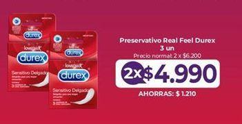 Oferta de Preservativos Real Feel Durex por $4990