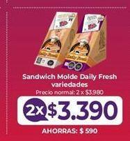 Oferta de Sandwiches Daily por $3390
