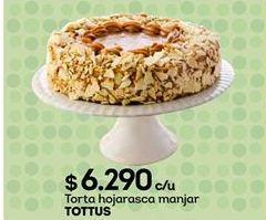Oferta de Torta hojarasca manjar Tottus por $6290
