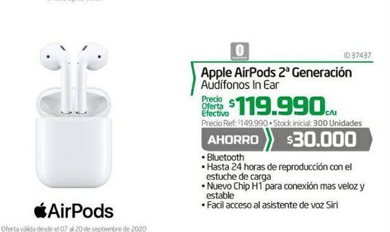 Oferta de Auriculares Apple por $119990