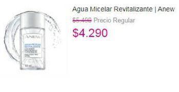 Oferta de Agua micelar Revitalizante Anew por $4290