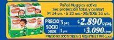 Oferta de Pañales Huggies por $2890