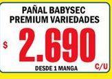 Oferta de Pañales Babysec por $2690