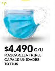 Oferta de Mascarilla Tottus por $4490