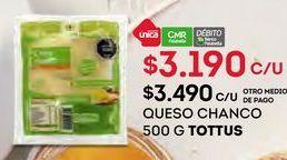 Oferta de Quesos Tottus por $3190