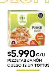 Oferta de Pizzetas Tottus por $5990