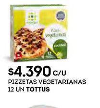 Oferta de Pizzetas vegetarianas Tottus por $4390