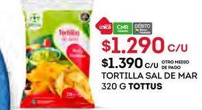 Oferta de Tortilla Tottus por $1290