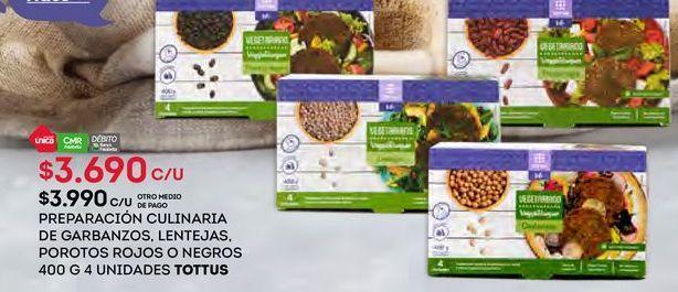 Oferta de Preparacion culinaria legumbres Tottus por $3690