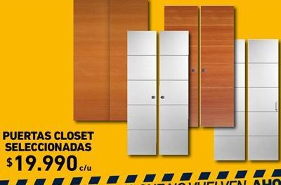 Oferta de Puertas closet seleccionadas por $19990