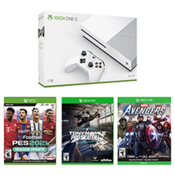 Oferta de Consola Xbox One S 1TB Blanca + Juego Xbox One Marvels ... por $449960