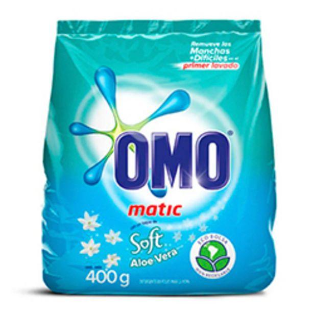Oferta de OMO Matic en Polvo Soft Aloe Vera Bolsa 400 gr 30 unid por $49990