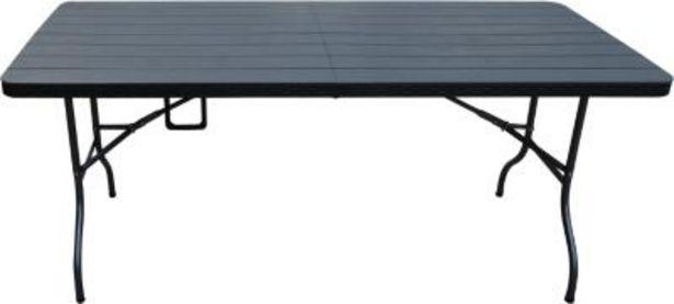 Oferta de Mesa plegable negra 180 cm por $59990