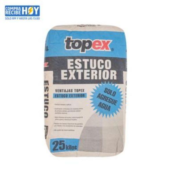 Ofertas de Topex estuco exterior 25 kg por $2490
