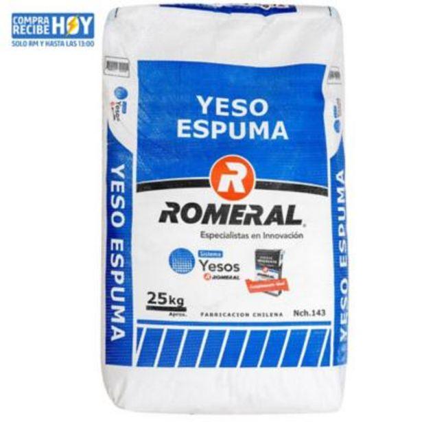 Ofertas de Yeso espuma Romeral 25 kg por $4390