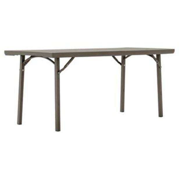 Oferta de Mesa retangular plegable gris por $89990