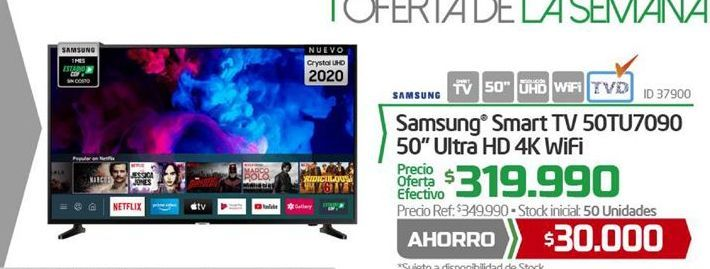 Oferta de Smart tv Samsung por $319990