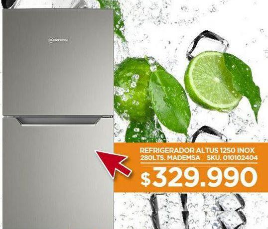 Oferta de Refrigeradores Mademsa por $329990