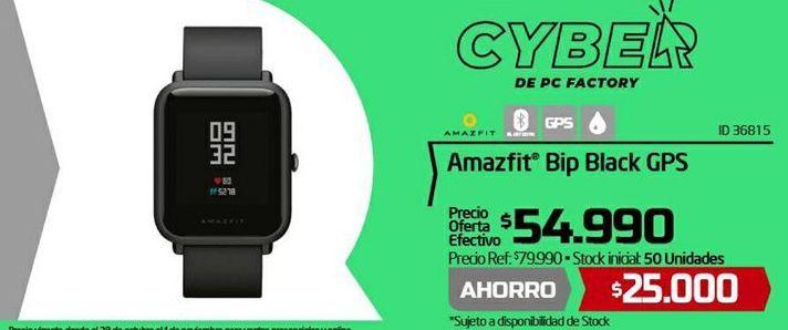 Oferta de Reloj inteligente Amazfit Bip Black GPS por $54,99