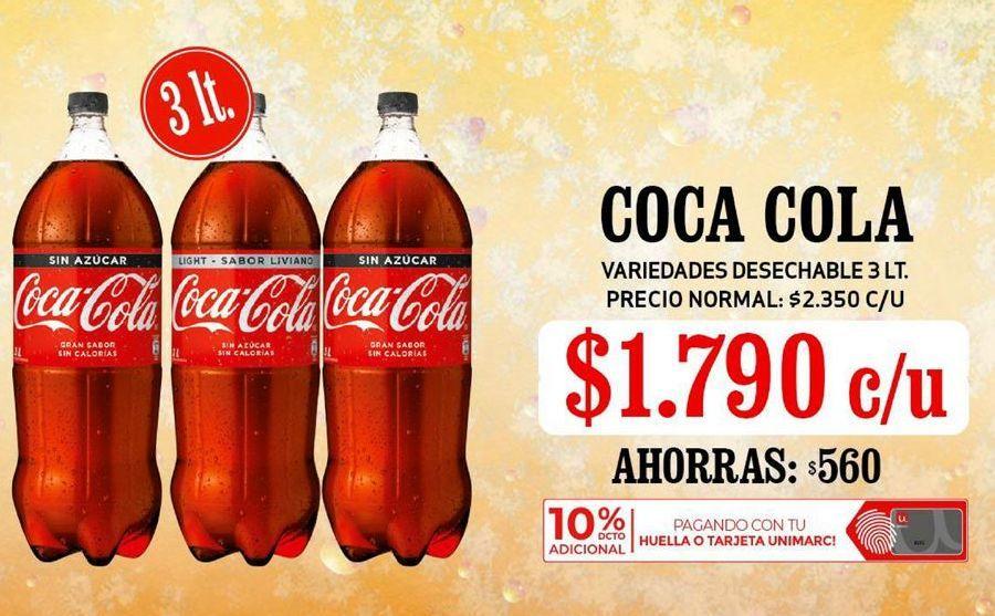 Oferta de Coca Cola 3Lt por $1,79