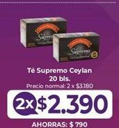 Oferta de Té Supremo por $2,39