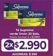 Oferta de Té Supremo por $2,99