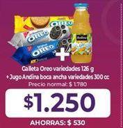 Oferta de Galletas Oreo + jugo Andina por $1,25