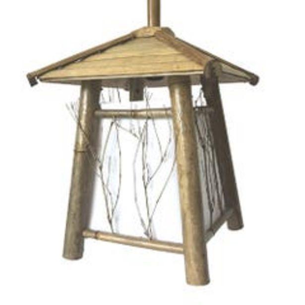 Ofertas de Lampara Colgante Estilo Japones Beige L3003 por $49990