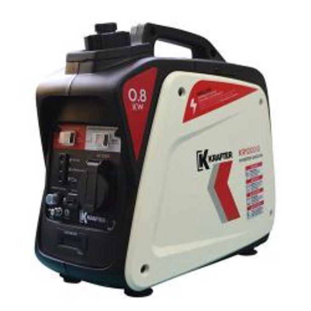 Oferta de Generador inverter gasolina 800W Krafter por $179990