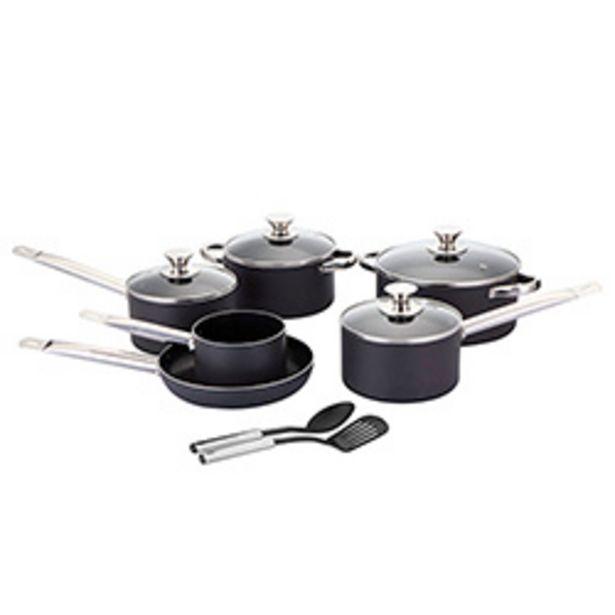 Oferta de Batería de Cocina Westinghouse 12 Piezas Negra por $49990