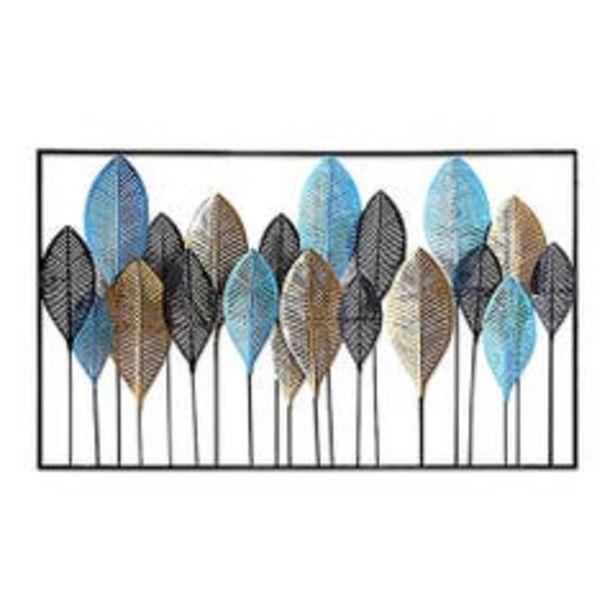 Ofertas de Cuadro de Pared Contemporáneo Ankara Store Hojas Multicolor A5018 por $154990