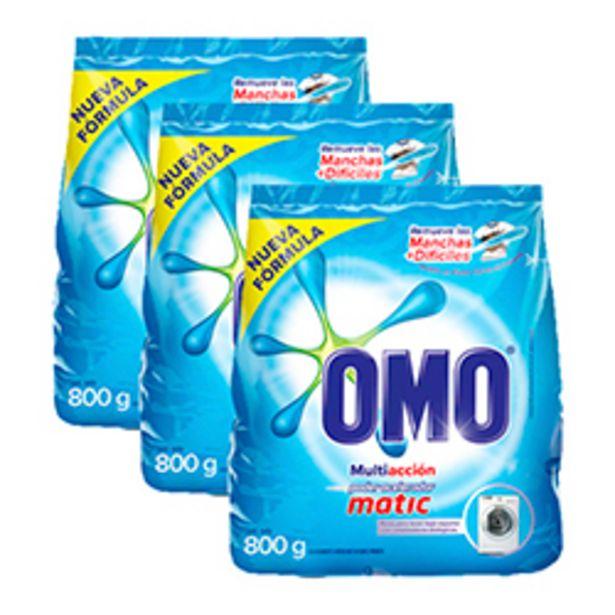 Oferta de OMO Matic en Polvo Multiacción Bolsa 800 gr 18 unid por $59990