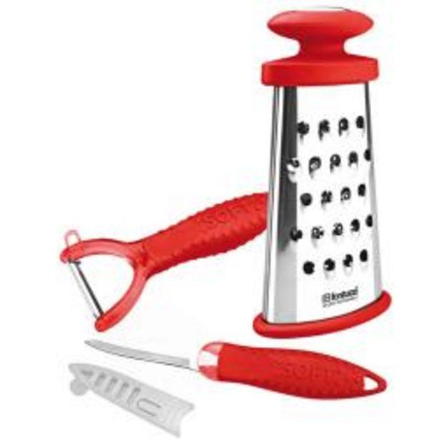 Oferta de Set Fantuzzi Utensilio de Cocina Lugano 3 Piezas Rojo por $2990