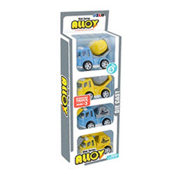 Oferta de Set 4 Autos Kids Dream Construcción de Metal por $4190