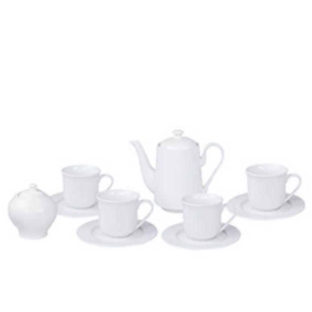 Oferta de Set de Té Casalinda Porcelana 10 Piezas Blanco por $9990