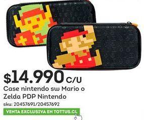 Oferta de Case Nintendo sw Mario o Zelda por $14,99