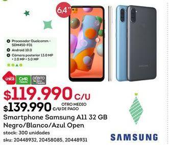 Oferta de Samsung Galaxy A11 por $119,99