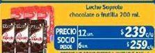 Oferta de Leche Soprole Chocolate o frutilla por $239