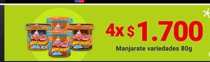 Oferta de Dulce de leche Soprole por $1,7