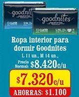 Oferta de Ropa interior para dormir Goodnites por $7,32