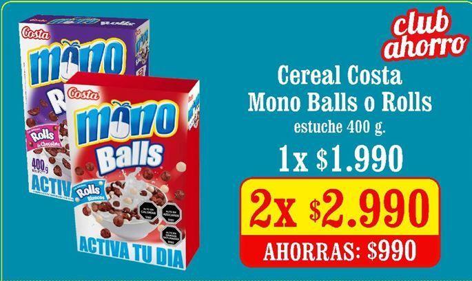 Oferta de Cereales Costa por $2,99