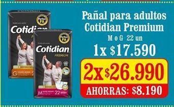 Oferta de Pañales para adultos Cotidian por $26,99