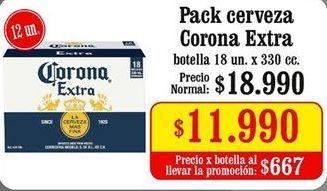 Oferta de Cervezas Corona por $11,99