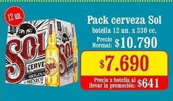 Oferta de Cervezas Sol por $7,69