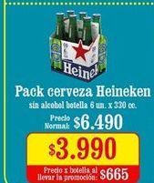 Oferta de Cervezas Heineken por $3,99