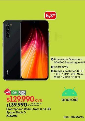 Oferta de Smartphone Redmi Note 8 Xiaomi por $129990
