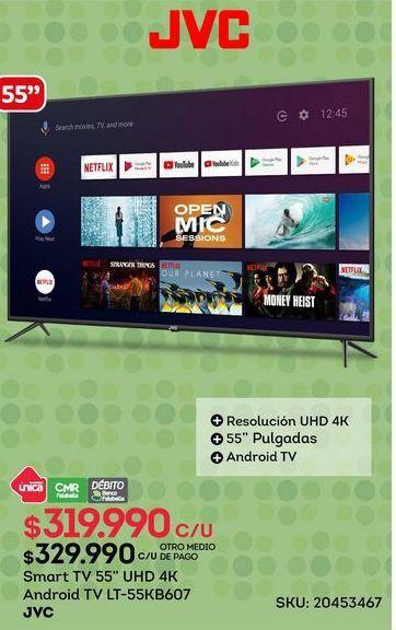 Oferta de Smart tv led 55'' JVC por $319990